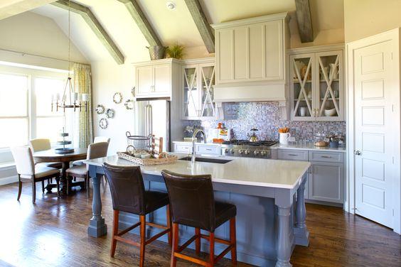Large Open Kitchen by Shaddock Homes at Phillips Creek Ranch #Kitchen #KitchenDesign #OpenFloorPlan #ShaddockHomesTX