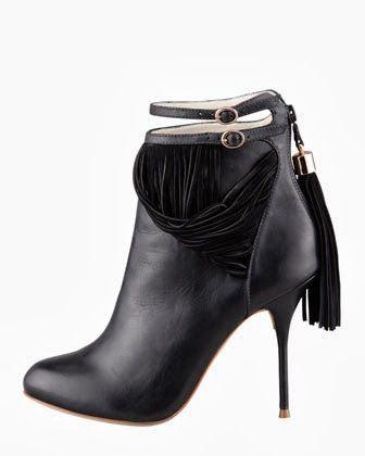 Fierce! Sophia Webster Fringed Leather Bootie