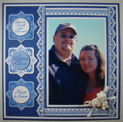 designed by Angela Barkhouse using JustRite Your Special Day, Lace Borders, Always & Forever, and Signs of Life