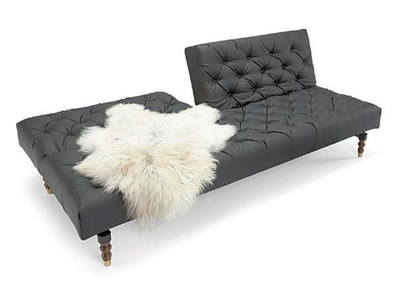 Chesterfield sofa weiss  Black Tufted Chesterfield Sofa Bed by Per Weiss | Chesterfield ...