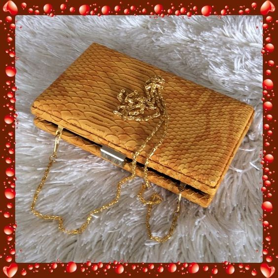 💞TASHA💞snake skin clutch Preowned, in very good condition Tasha Bags Clutches & Wristlets