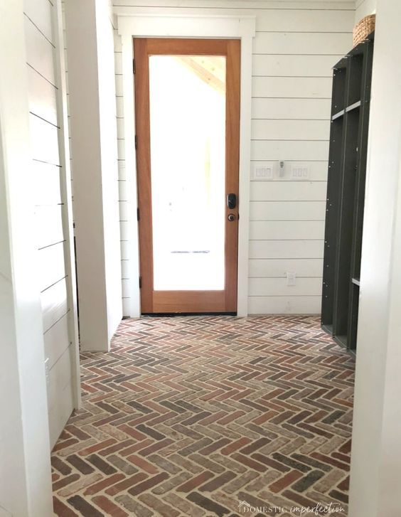 Thinking about putting a brick floor in your home? Read this post for information about where to buy brick tiles, cost, sealer, and more! #brick #brickfloor #bricktile #brickpaver #thinbrick