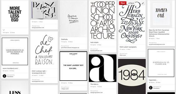 alla ricerca di qualche ispirazione tipografica...