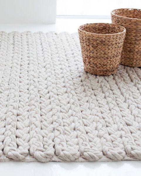 Solid-color wool rug TRENZAS by GAN By Gandia Blasco | #design José Antonio Gandía-Blasco @gandiablasco