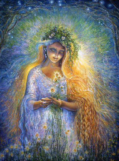 """Lada is the Slavic Goddess of spring, love, and beauty... She is said to return from the underworld every year at the Vernal Equinox, bringing the spring with Her."""