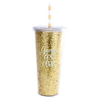 Gamma Phi Beta Sorority Glitter Tumbler - Brothers and Sisters' Greek Store