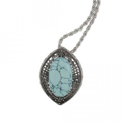 LUNAR'S FERN PENDANT NECKLACE - BLIZZARD BLUE - Necklaces - Shop All | SAMANTHA WILLS