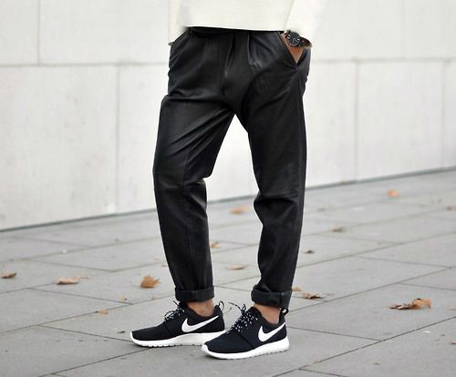 Nike Roshe run, zwart wit, black, white, Alta-Moda www.altamoda.nl
