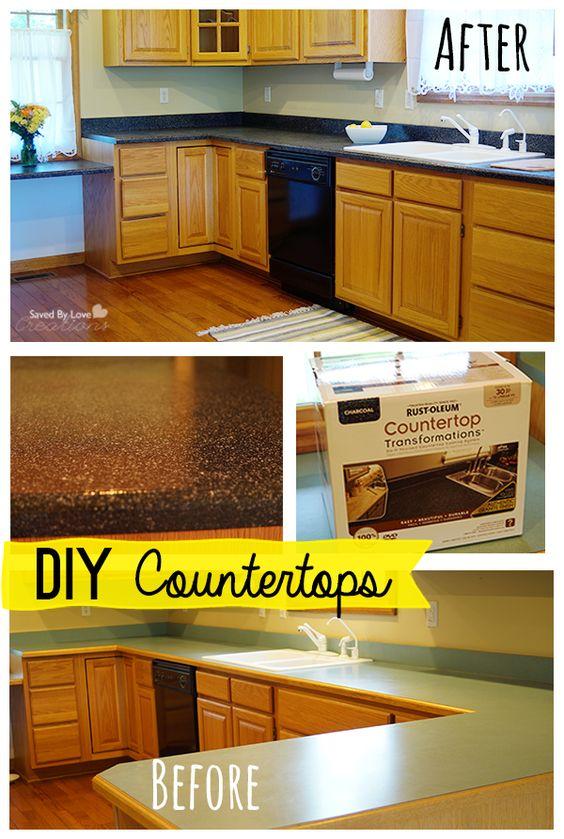 Countertop Paint Rustoleum Review : Rust-Oleum U.S. Countertop Transformation Review @savedbyloves DIY ...