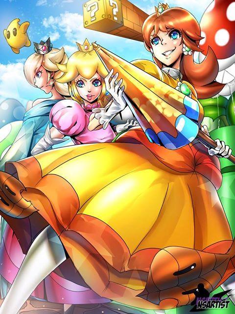 Smash Sis Wearedaisy Nintendo Supermario Supersmashbros Princessdaisy Princesspeach Rosalina By Nsart Luigi And Daisy Super Smash Bros Smash Bros