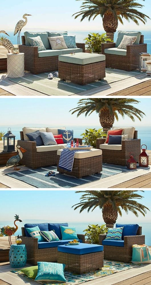 coastal beach vibe outdoor decor