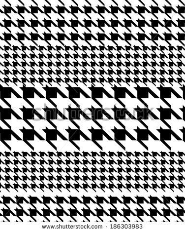 Pied de poule patterned and striped patterned fabric design.:
