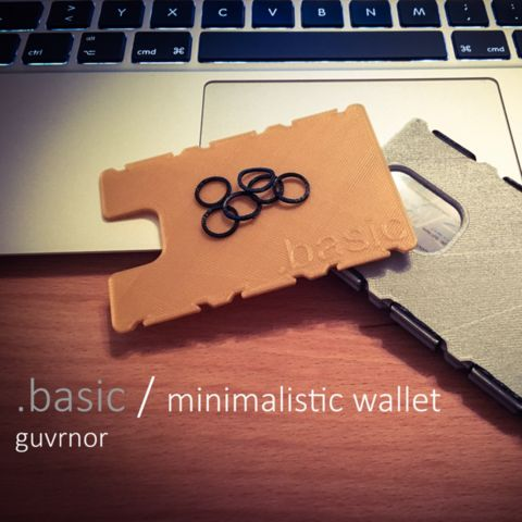 Download on https://cults3d.com #3Dprinting #Impression3D guvrnors .basic wallet 3D model, guvrnor