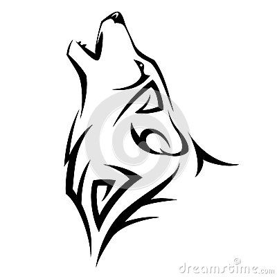 easy tribal wolf drawing - photo #13