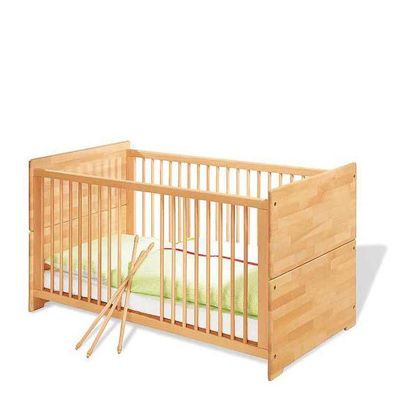 Lit bébé Natura, en hêtre massif, Pinolino €289 plus mattress, 70x140, later can be a bench