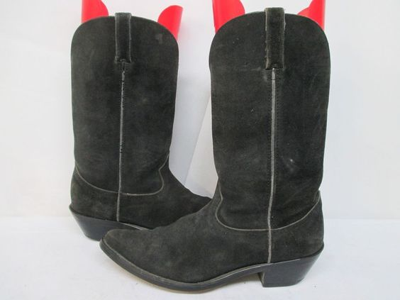 Mens Durango Black Suede Leather Cowboy Boots Size 9.5 D Style DB220 #Durango #CowboyWestern