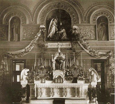 Historical photo of the chapel at the Visitation Monastery in Mobile, AL.