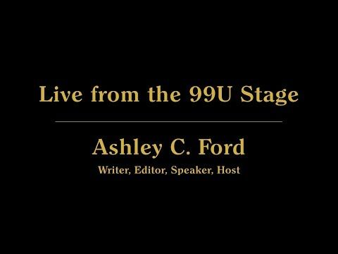 New Video Live From The Stage With Ashley C Ford On Youtube