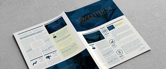 Free InDesign newsletter template Design no 2 Free InDesign - free annual report templates