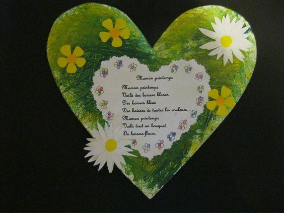 Bricolage de Fêtes des mères autour du poème Maman Printemps