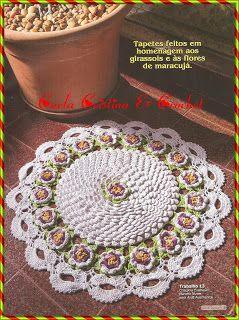 Carla Cristina & Crochet: Flor de Maracujá e Tapete .