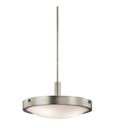 Kichler Lighting Lytham 3 Light Semi-Flush Mount in Brushed Nickel 42245NI