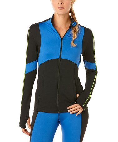 Look at this #zulilyfind! Liquid Cobalt Exceed Track Jacket by C&C California #zulilyfinds