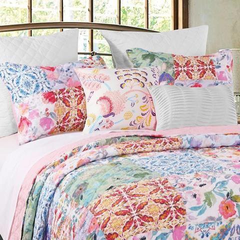 Joanna S Garden Multi 3 Piece Quilt Set In 2020 Bedroom