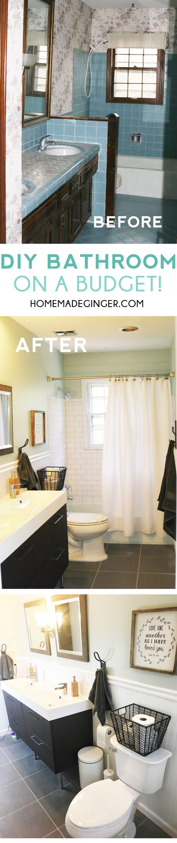 Diy bathroom on a budget home renovation photos and money - Remodeling your bathroom on a budget ...