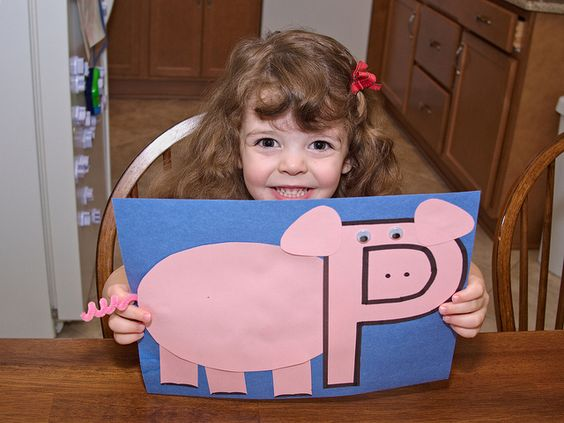 P is for Pig.....great craft for If You Give a Pig a Party