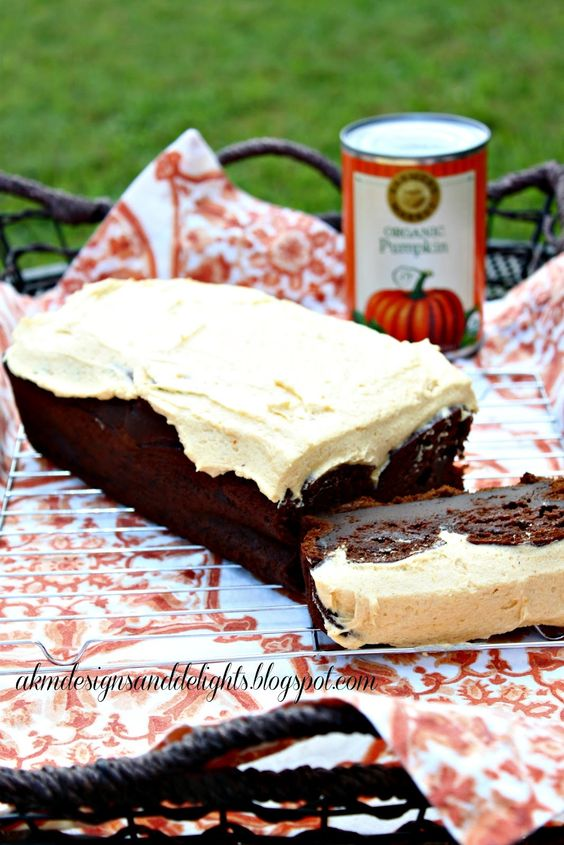 AKM designs and delights: Chocolate Chocolate Pumpkin Cake with Spiced Pumpkin Buttercream