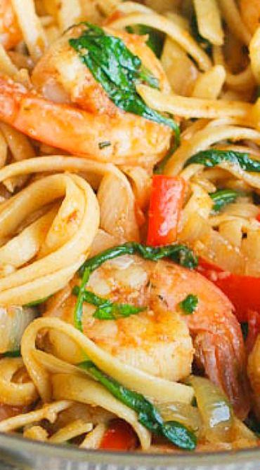 Spicy shrimp tomato spinach pasta | Recipe | Spinach ...