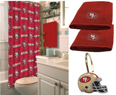 San francisco 49ers deluxe bath set only at www for 49ers bathroom decor