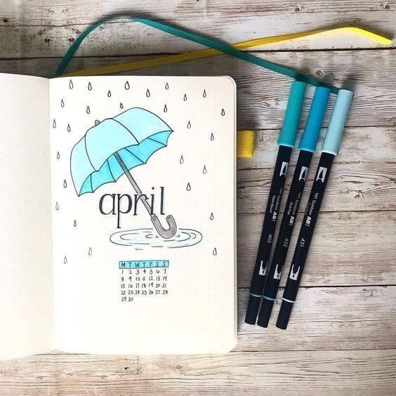 30 idées de monthly spread pour avril