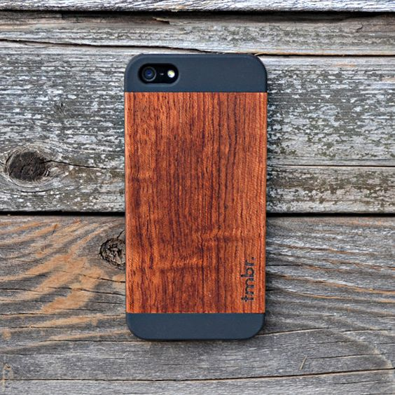 Wooden IPHONE 5 5s CASE Rosewood Durable Unique by tmbrwood