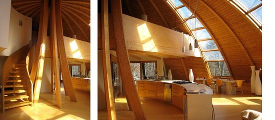 Talk about using the sun! This house rotates with the suns movements!!!!!
