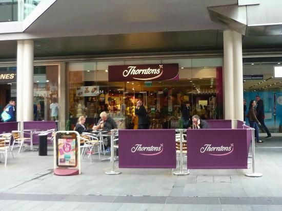 Canvas Cafe Barriers For Thorntons Cafe #thorntons #cafe #canvas #chocolate  #purple