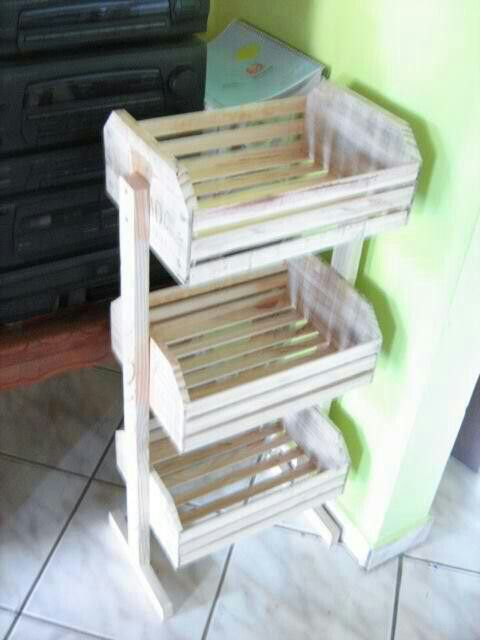 Cajones de fruta carrito verduras pinterest blue and - Manualidades con cajas de madera ...
