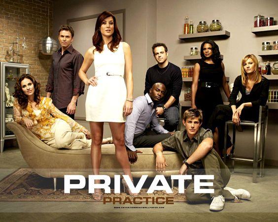Private Practice - La serie narra la vida de la doctora Addison Montgomery (interpretada por Kate Walsh) tras dejar el hospital Seattle Grace y mudarse a Los Ángeles, donde empieza a trabajar en una clínica privada de unos amigos.