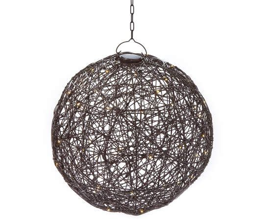 Wilson Fisher Manhattan Faux Rattan Battery Operated Chandelier With Remote Big Lots In 2021 Outdoor Hanging Lights Battery Operated Chandelier Pergola Lighting