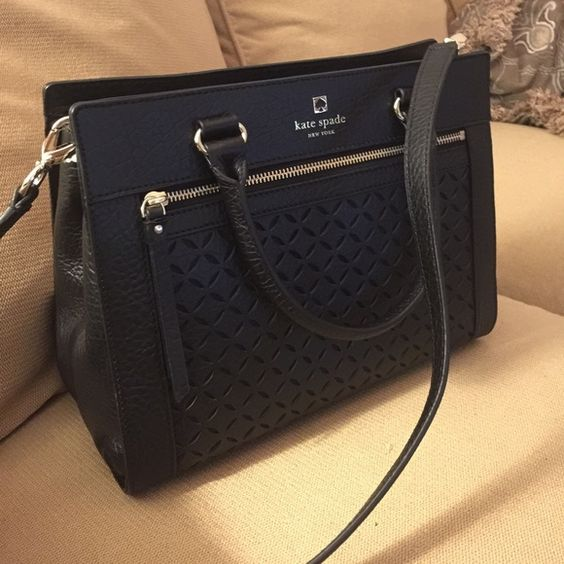 """Kate Spade Romy Perri Lane Bubbles leather Black Authentic Kate spade New York. Dimensions: 12"""" x 9"""" x 5"""". Used like new kate spade Bags Shoulder Bags"""