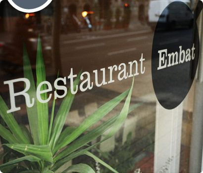 Restaurant Embat    The laid-back atmosphere makes bistronomía Embat a great place to linger. Try scallops with papada of pig and celery , €15.50, duck with warm pears and smoky aubergines, €10.10, and baked apples with lemon and vanilla ice-cream, €3.90.