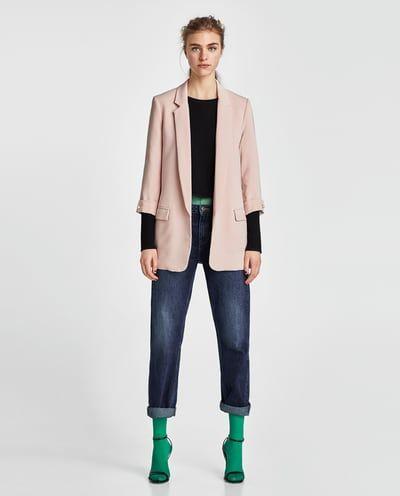 Blazer larga | Moda zara, Blazers mujer y Blaser largo