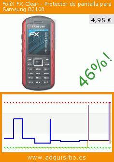 FoliX FX-Clear - Protector de pantalla para Samsung B2100 (Accesorio). Baja 46%! Precio actual 4,95 €, el precio anterior fue de 9,13 €. https://www.adquisitio.es/folix/fx-clear-protector-11