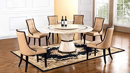 American Eagle Furniture H38 Faux Marble Top Round Dining Table