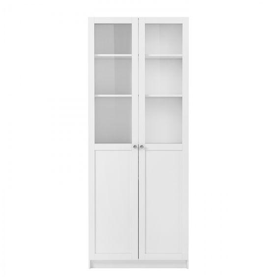 """Glastürenset für Regal Inna ll  Mit dem Aufbewahrungssystem """"Inna"""" lässt sich alles, was Sie im Wohnzimmer so brauchen, stilvoll und praktisch organisieren. Wir haben für Sie einige Kombinationen..."""