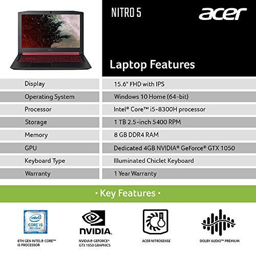 Acer Nitro 5 An515 52 15 6 Inch Laptop With Images Laptop Acer