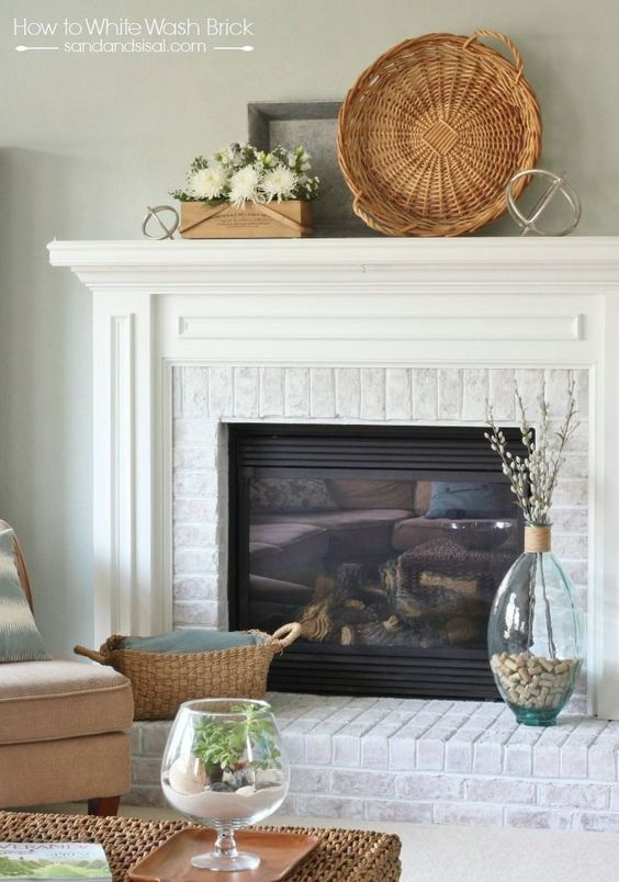 How To Whitewash Brick The O 39 Jays How To Whitewash Brick And Fireplaces