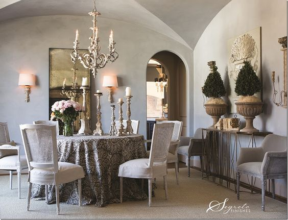Plastered walls Segreto did for the Aidan Gray contest winner in Dallas. The furnishings are fab!!