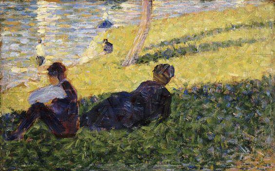 """Etude pour """"un dimanche apres midi a l'île de la Grande by Georges Seurat"""